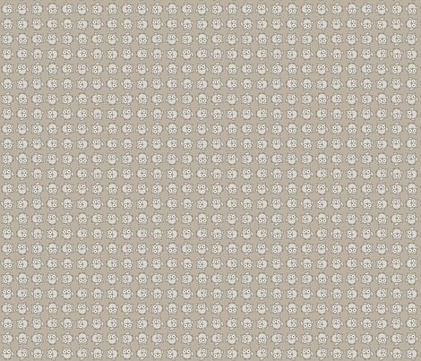 Doodle Owl - Muted fabric by happysewlucky on Spoonflower - custom fabric