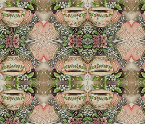 tea mandala fabric by fallingladies on Spoonflower - custom fabric