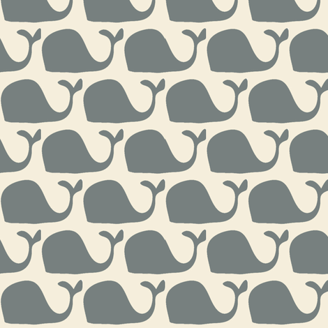Mr. Whale ©2012 Jill Bull fabric by palmrowprints on Spoonflower - custom fabric