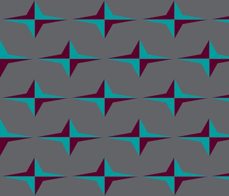 Retro Star  fabric by sterlingrun on Spoonflower - custom fabric