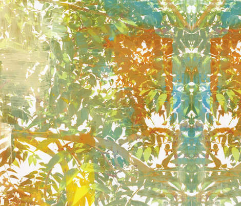 Idyllwild Canopy - painted fabric by painter13 on Spoonflower - custom fabric
