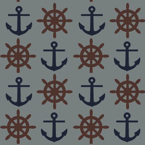 Mr. Captain ©2012 Jill Bull fabric by palmrowprints on Spoonflower - custom fabric