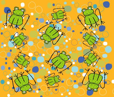 FROGGY fabric by deeniespoonflower on Spoonflower - custom fabric