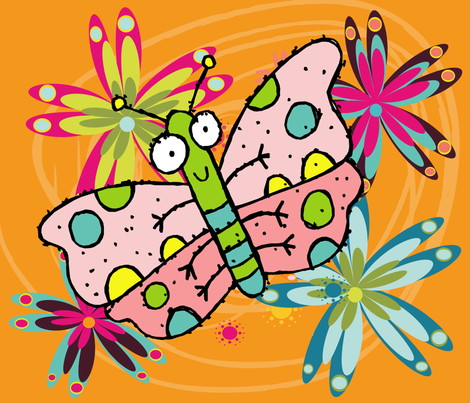 BUGS N' STUFF 06 fabric by deeniespoonflower on Spoonflower - custom fabric