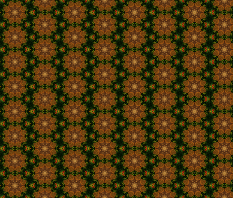 Bee Skep Kaleidoscope fabric by anniedeb on Spoonflower - custom fabric