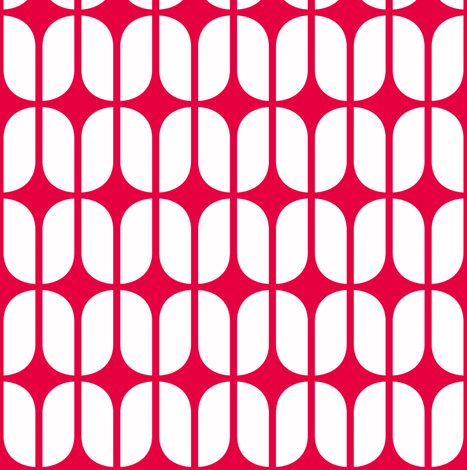 Modular Red fabric by brainsarepretty on Spoonflower - custom fabric