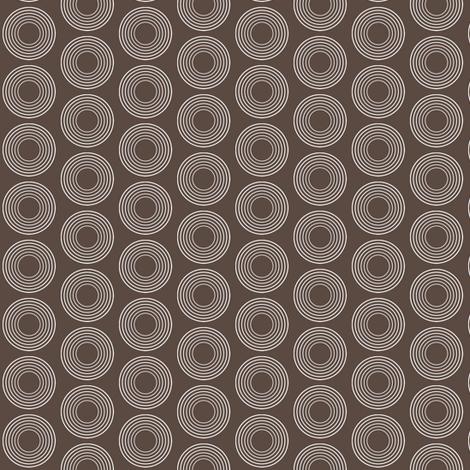 Modular Brown Circles fabric by brainsarepretty on Spoonflower - custom fabric