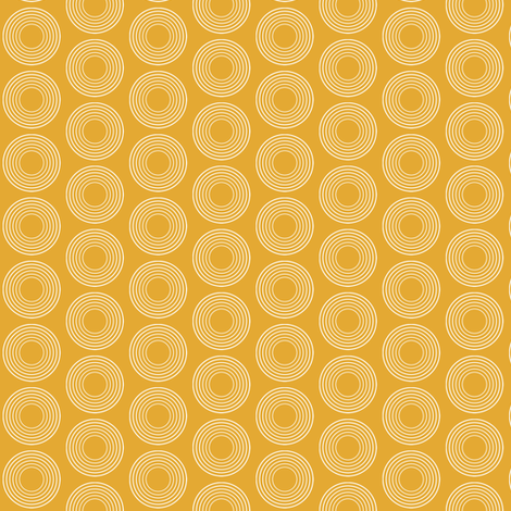 Modular Yellow Circles fabric by brainsarepretty on Spoonflower - custom fabric