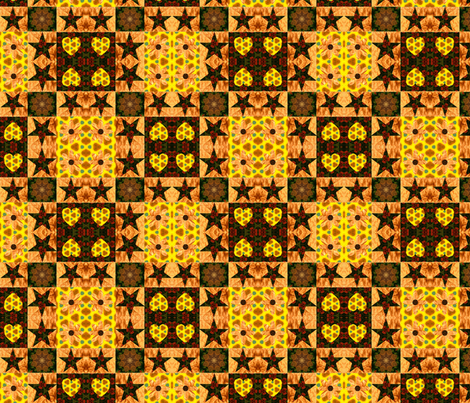 Bee Cheater Quilt fabric by anniedeb on Spoonflower - custom fabric