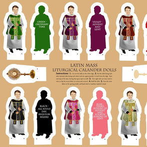 Cut and Sew Latin Mass Liturgical Calendar dolls