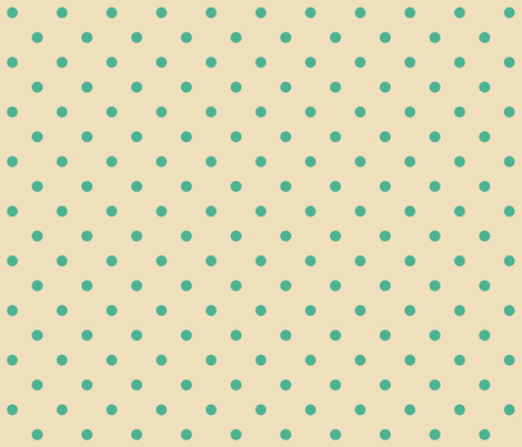 Black_with_Turquoise_Dots fabric by lana_gordon_rast_ on Spoonflower - custom fabric