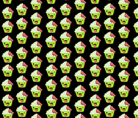 ZombieCupcake! fabric by dynamiteneedleworks on Spoonflower - custom fabric