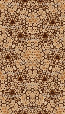 Beige and Brown Digital Tapestry