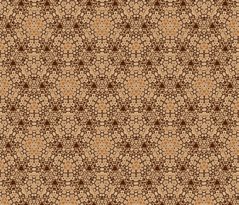 Beige and Brown Digital Tapestry fabric by gingezel on Spoonflower - custom fabric