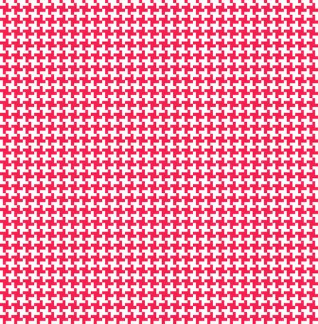 Cinnamon Houndstooth || geometric check cross midcentury modern fabric by pennycandy on Spoonflower - custom fabric