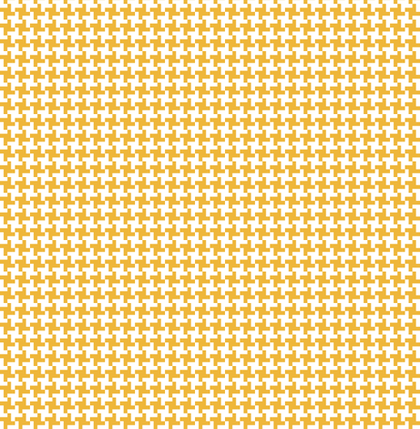 Caramel Houndstooth || geometric check cross midcentury modern fabric by pennycandy on Spoonflower - custom fabric