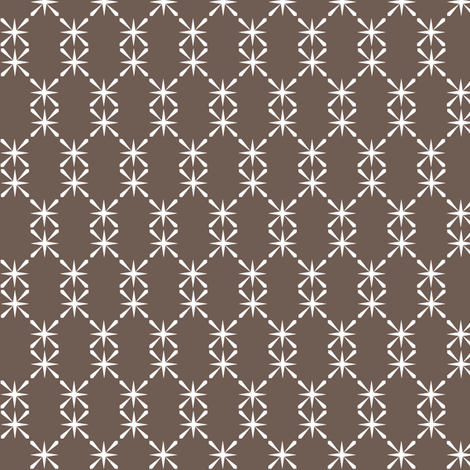 Americano Chain || midcentury modern vintage kitchen farm farmhouse chicken wire lattice starburst fabric by pennycandy on Spoonflower - custom fabric
