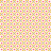 Atomic Caramel || midcentury modern atomic stars starburst check checkerboard geometric