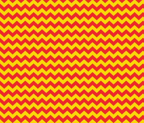 Red and yellow chevrons fabric by pininkie on Spoonflower - custom fabric