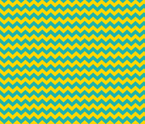 Teal and yellow chevrons fabric by pininkie on Spoonflower - custom fabric