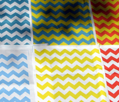 White and blue chevrons