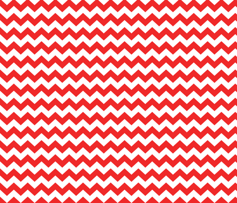 Red and white chevrons fabric by pininkie on Spoonflower - custom fabric
