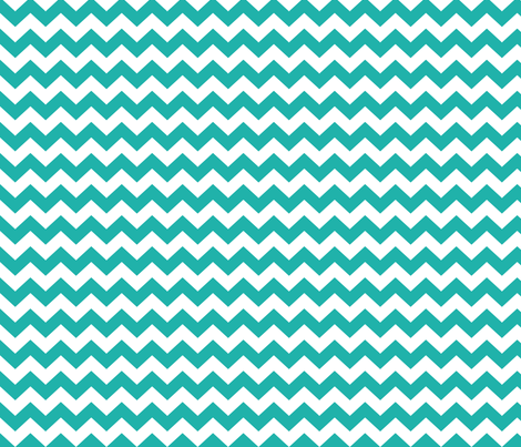 White and teal chevrons fabric by pininkie on Spoonflower - custom fabric