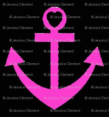 Pink Heart Anchor
