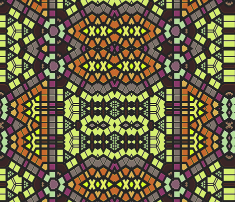 Stained Glass Windows: Grape Plans fabric by wren_leyland on Spoonflower - custom fabric
