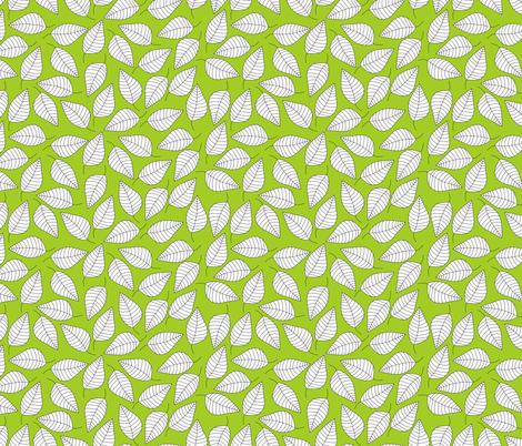 LEAFY (green) fabric by biancagreen on Spoonflower - custom fabric