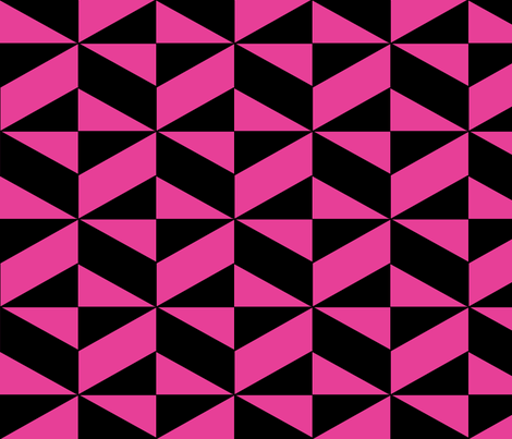 Pink Block Illusion fabric by sterlingrun on Spoonflower - custom fabric