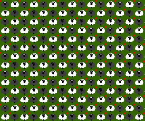 Sheep love fabric by bunnyjump on Spoonflower - custom fabric