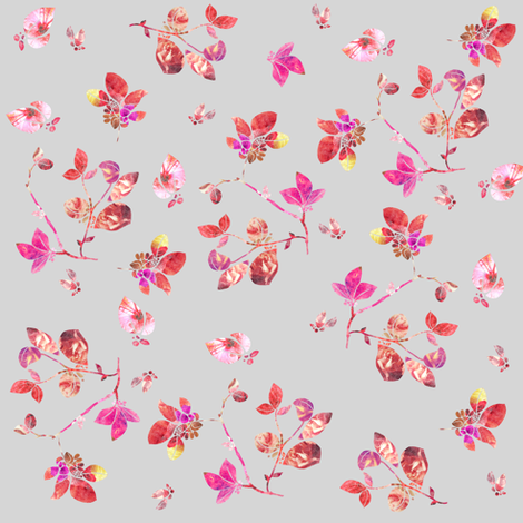 Blossom (grey) fabric by biancagreen on Spoonflower - custom fabric