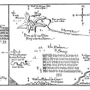 Hobbit Map (Thror / Lonely Mountain)