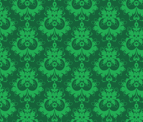 modern_damask_green fabric by spacecowgirl on Spoonflower - custom fabric
