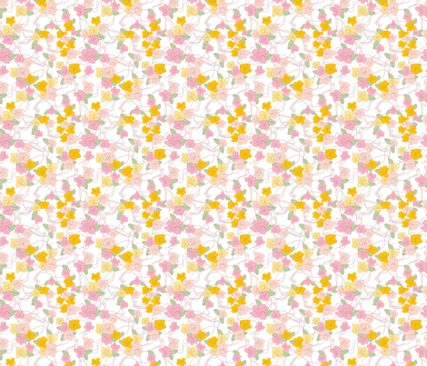 Pink-yellow fabric by innaogando on Spoonflower - custom fabric