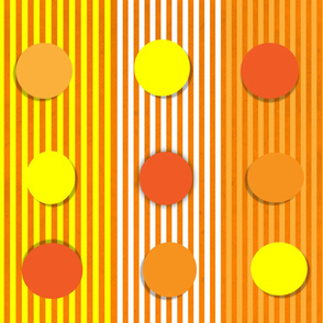 Orange and Yellow dots_and_stripes