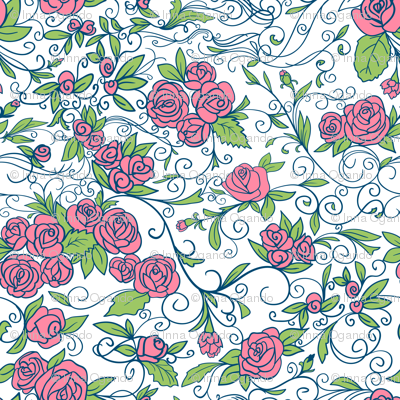 Roses.  Vector.