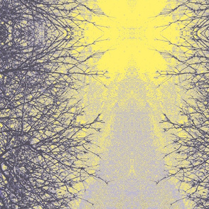 yellow & lavender branches