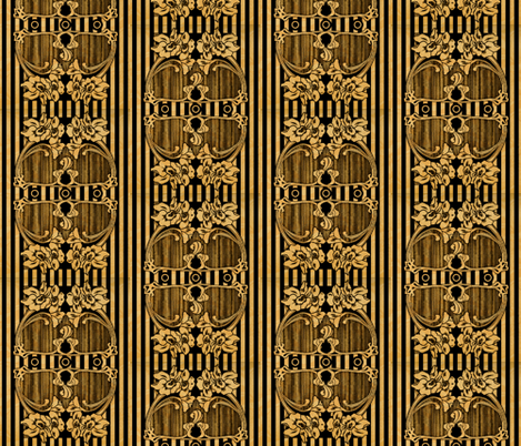 Art Nouveau Stripes and florals fabric by whimzwhirled on Spoonflower - custom fabric