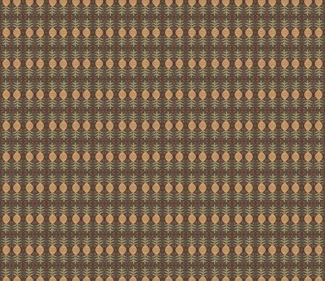 prim hooked pineapple ©LLausen fabric by woolyredrug on Spoonflower - custom fabric