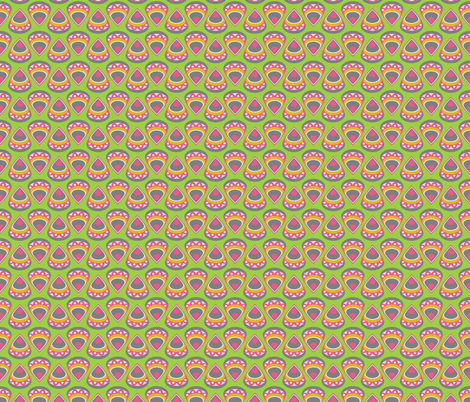 DROPS (green) fabric by biancagreen on Spoonflower - custom fabric