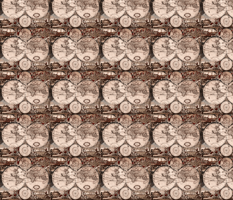 Cartographie Ancienne-ch fabric by flyingfish on Spoonflower - custom fabric