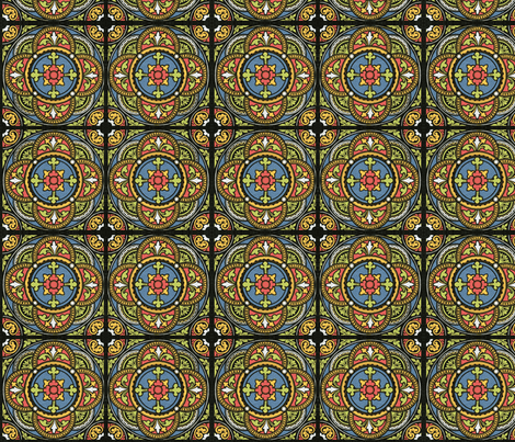 Stained Glass-ch fabric by flyingfish on Spoonflower - custom fabric