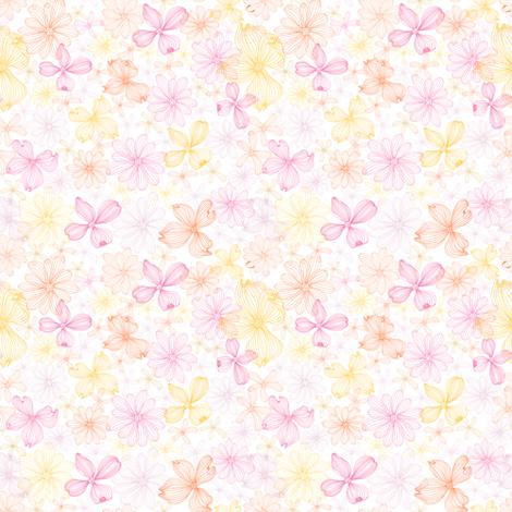 Pink-yellow fabric by innaogando on Spoonflower - custom fabric