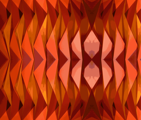 Orange abstract-ch fabric by flyingfish on Spoonflower - custom fabric