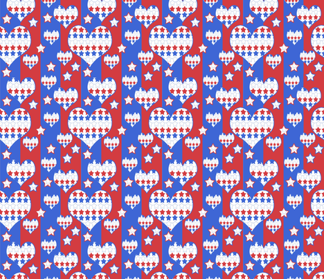Stars and Stripes and Hearts Forever fabric by dogdaze_ on Spoonflower - custom fabric