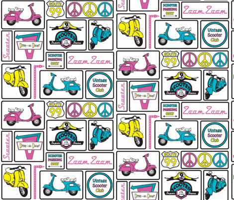 Scooter fabric by designedtoat on Spoonflower - custom fabric