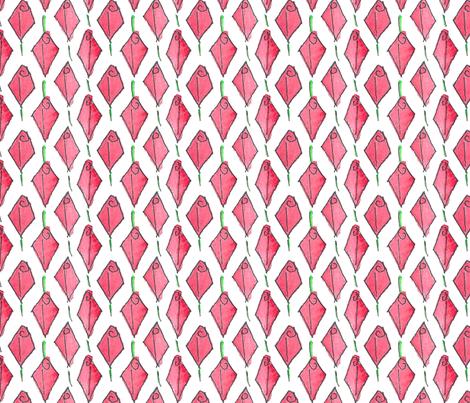 Modish blushing rosebud box - large  fabric by victorialasher on Spoonflower - custom fabric