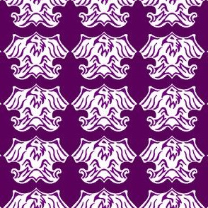 Fleur De Lis Eagle Tessellation - Purple